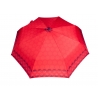 Automatyczna parasolka damska marki Parasol, czerwona w kółka
