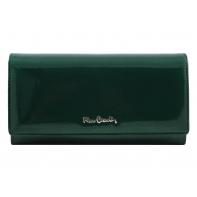 Skórzany lakierowany portfel Pierre Cardin w kolorze zielonym