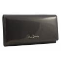 Lakierowany skórzany portfel Pierre Cardin w kolorze szarym