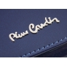 Skórzany lakierowany portfel Pierre Cardin w kolorze granatowym