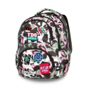 Plecak szkolny CoolPack Dart XL 27L, CAMO PINK BADGES A29112