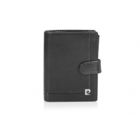 Męski portfel Pierre Cardin RFID zapinany, 12 kart + dowód rejestracyjny, czarny