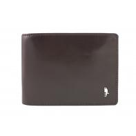 Męski poziomy portfel Puccini PL- 20438 w kolorze brązowym z bogatym wyposażeniem