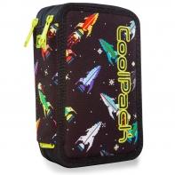 Potrójny piórnik z wyposażeniem, Coolpack Jumper 3, ROCKETS, A67207
