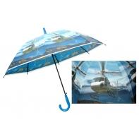 Automatyczna duża parasolka dziecięca z motywem helikopteru