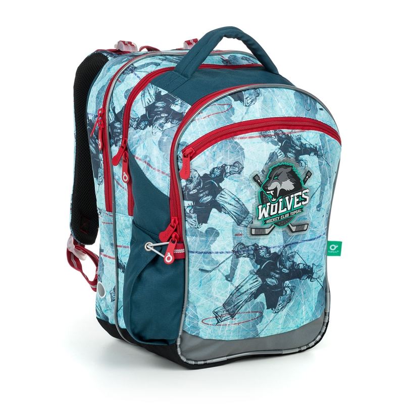 bd9f2e7504be4 Plecak szkolny trzykomorowy Topgal COCO 19012