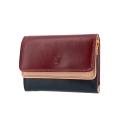 Skórzany mały portfel damski marki DuDu®, burgundy