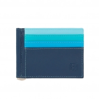 SUPER cienka skórzana banknotówka męska DuDu® 534-1150 niebieska