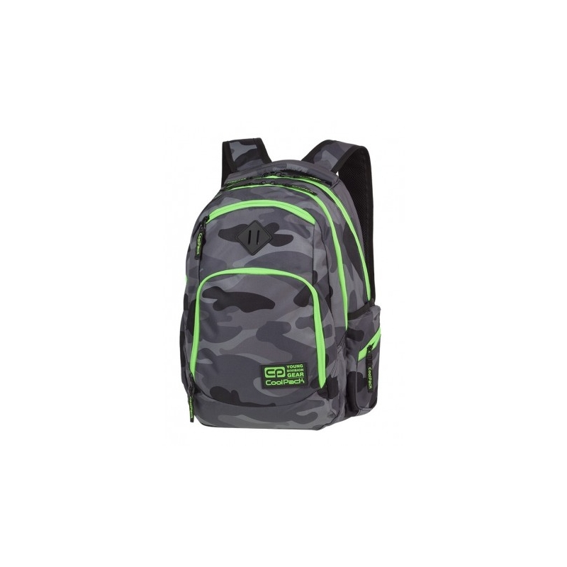 63ceded10182f Młodzieżowy plecak szkolny CoolPack Break 29 l, Como Green Neon A371