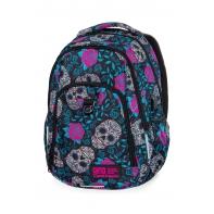 Lekki plecak szkolny CoolPack Strike L 27 L, Skull&Roses B18049