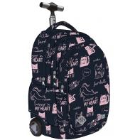 Trzykomorowy plecak na kółkach St.Right 34 L, Cats TB1