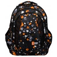 Trzykomorowy plecak szkolny St.Right 29 L, Cubes BP4