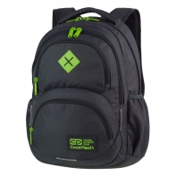 Młodzieżowy plecak szkolny CoolPack Dart 27L, Black + Green A397
