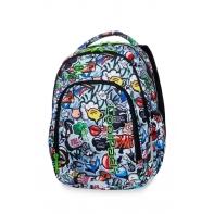 Lekki plecak szkolny CoolPack Strike S 19L, Graffiti A17201
