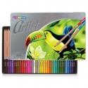 Kredki ołówkowe w metalowym opakowaniu 36 szt. ARTIST Colorino