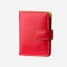 Skórzany mały portfel damski marki DuDu®, czerwony