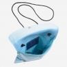 Skórzany portfel damski turystyczny na szyje marki DuDu®, niebieski