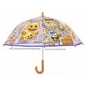 Dziecięca głęboka parasolka w żółte buźki EMOJI