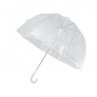 Głęboka parasolka duża przezroczysta biała