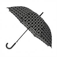 Automatyczna elegancka parasolka damska w biały wzór