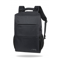 "Męski plecak miejski na laptopa 13-15,6"" + USB, Range Black R-bag"