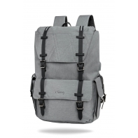 "Plecak męski na laptopa 15"" + USB, R-bag Packer Gray"