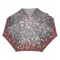 Automatyczna parasolka damska marki Parasol, szaro-pomarańczowa