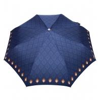 Automatyczna parasolka damska marki Parasol, granatowa w pawie oczka