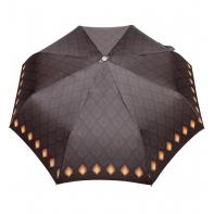 Automatyczna parasolka damska marki Parasol, brązowa w pawie oczka