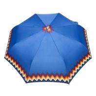 Automatyczna parasolka damska marki Parasol, niebieska z zygzakiem
