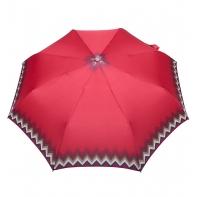 Automatyczna parasolka damska marki Parasol, czerwona z zygzakiem