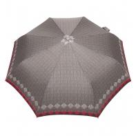 Automatyczna parasolka damska marki Parasol, szara w romby