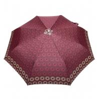 Automatyczna parasolka damska marki Parasol, bordowa w okręgi