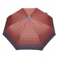 Automatyczna parasolka damska marki Parasol, pomarańczowa w okręgi