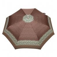 Automatyczna parasolka damska marki Parasol, arabeska brązowa