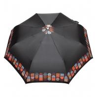 Automatyczna parasolka damska marki Parasol, brązowa geometryczny wzór