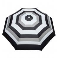 Automatyczna parasolka damska marki Parasol, czarno-szare paski