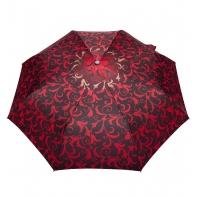 Automatyczna parasolka damska marki Parasol, bordowa w liście