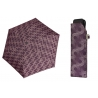 Bardzo lekka wytrzymała płaska parasolka Doppler, fioletowa w okręgi