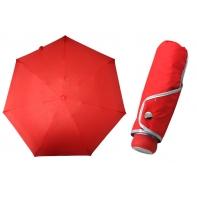 Ultra lekka mini parasolka damska 18 cm, czerwona