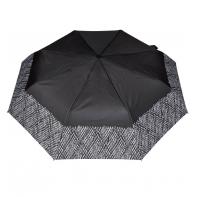 Wytrzymała automatyczna parasolka damska PARASOL, lamówka kamyczki