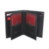 Męski skórzany zestaw prezentowy: pasek + portfel RFID Pierre Cardin, czarny