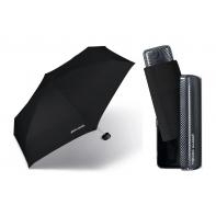 Lekka, mała parasolka Pierre Cardin w praktycznym etui, czarna