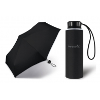 Kieszonkowa, ultra mini parasolka Happy Rain 16 cm, czarna