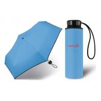 Kieszonkowa, ultra mini parasolka Happy Rain 16 cm, jasno niebieska