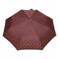 Automatyczna parasolka damska marki Parasol, brązowa w kółeczka