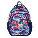 Trzykomorowy plecak szkolny St.Right 27 L, SLOGAN BP6