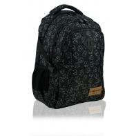 Dwukomorowy plecak szkolny młodzieżowy Astra Head, DICE