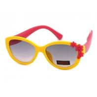 Okulary przeciwsłoneczne UV 400, z KWIATUSZKAMI żółto-czerwone