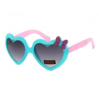 Okulary przeciwsłoneczne dziecięce UV 400 SERCA niebiesko-różowe